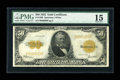 Large Size:Gold Certificates, Fr. 1200 $50 1922 Gold Certificate PMG Choice Fine 15....