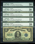 Canadian Currency: , A Quintet of 1923 Ones.. ... (Total: 5 notes)
