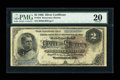 Large Size:Silver Certificates, Fr. 244 $2 1886 Silver Certificate PMG Very Fine 20....