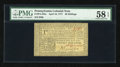 Colonial Notes:Pennsylvania, Pennsylvania April 10, 1777 20s PMG Choice About Unc 58 EPQ....