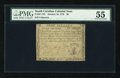 Colonial Notes:South Carolina, South Carolina October 19, 1776 $8 PMG About Uncirculated 55....