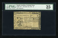 Colonial Notes:South Carolina, South Carolina December 23, 1776 Fully Signed $1 PMG Very Fine25....