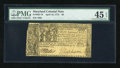 Colonial Notes:Maryland, Maryland April 10, 1774 $8 PMG Choice Extremely Fine 45 EPQ....