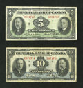 Canadian Currency: , Toronto, ON- Imperial Bank of Canada Notes. ... (Total: 2 notes)