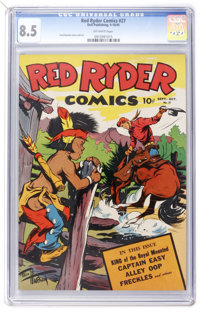 Red Ryder Comics #27 (Dell, 1945) CGC VF+ 8.5 Off-white pages