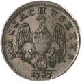 Colonials, 1787 1/2 C Massachusetts Half Cent MS63 Brown PCGS....