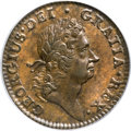 Colonials, 1724 1/2P Hibernia Halfpenny MS62 Brown PCGS....