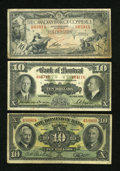 Canadian Currency: , A Trio of Chartered Bank Tens.. ... (Total: 3 notes)