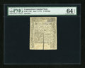 Colonial Notes:Connecticut, Connecticut June 7, 1776 2s PMG Choice Uncirculated 64 EPQ....