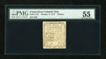 Colonial Notes:Connecticut, Connecticut October 11, 1777 3d White Paper Uncancelled PMG AboutUncirculated 55....