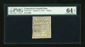 Colonial Notes:Connecticut, Connecticut October 11, 1777 7d Uncancelled PMG Choice Uncirculated64 EPQ....