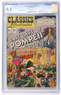 Golden Age (1938-1955):Classics Illustrated, Classics Illustrated #35 The Last Days of Pompeii - Original Edition (Gilberton, 1947) CGC VG+ 4.5 Cream to off-white pages....