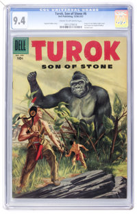 Turok #6 (Dell, 1956) CGC NM 9.4 Cream to off-white pages