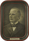 Political:3D & Other Display (1896-present), William McKinley: Tin Tray....