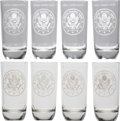 "Military & Patriotic:WWII, General George S. Patton: A Set of Four of His Personal Etched Highball Glasses. Four 7½"" glasses, each etched with a ""Unite... (Total: 4 Items)"