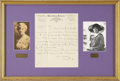 Autographs:Celebrities, Woman's Suffrage: Alice Paul Autograph Letter Signed to Harriet MayMills....