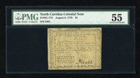 North Carolina August 8, 1778 $1 PMG About Uncirculated 55