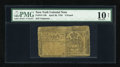 Colonial Notes:New York, New York April 20, 1756 £3 PMG Very Good 10 Net....