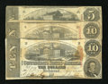 Confederate Notes:1863 Issues, T59 $10 1863. Two Examples.. T60 $5 1863.. ... (Total: 3 notes)