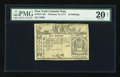 Colonial Notes:New York, New York February 16, 1771 10s PMG Very Fine 20 Net....