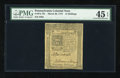 Colonial Notes:Pennsylvania, Pennsylvania March 20, 1773 14s PMG Choice Extremely Fine 45EPQ....