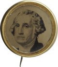 Political:Ferrotypes / Photo Badges (pre-1896), George Washington: Ferrotype Lapel Pin....