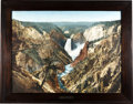 Transportation:Railroad, Huge Tinted Photograph of Grand Canyon of Yellowstone by NorthernPacific Railway, ...