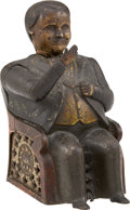 Political:3D & Other Display (pre-1896), Tammany Hall Cast Iron Mechanical Bank. ...