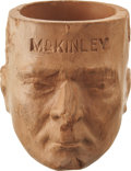 Political:3D & Other Display (1896-present), William McKinley: Unusual Figural Clay Pipe Bowl....