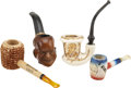 Political:3D & Other Display (1896-present), Dwight D. Eisenhower: Four Portrait and Campaign Pipes.... (Total: 4 Items)