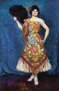 Texas:Early Texas Art - Regionalists, RUTH MONRO AUGUR (American, 1886-1967). Spanish Dancer. Oil on canvas laid on board. 41-1/2 x 27-1/2 inches (105.4 x 69....