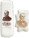 Political:3D & Other Display (1896-present), William McKinley: Two Portrait Pin Trays.... (Total: 2 Items)