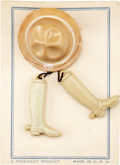 Political:3D & Other Display (1896-present), Theodore Roosevelt: Miniature Hat and Boots Pin. ...