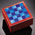 Lapidary Art:Boxes, PURPORO A POIS BOX WITH LAPIS. ...