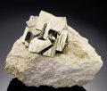 Minerals:Native Metals, PYRITE FLOWER ON MATRIX. ...