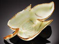 "Lapidary Art:Carvings, VERY LARGE CALCITE ""LEAF"" BOWL. ..."
