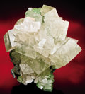 Minerals:Cabinet Specimens, CALCITE ON CONICALCITE (?) on DOLOMITE CAST AFTER UNKNOWN MINERAL....