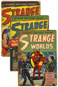 Golden Age (1938-1955):Science Fiction, Strange Worlds Group (Avon, 1952-54) Condition: Average GD+....(Total: 6 Comic Books)