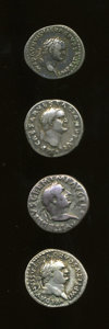 Ancients:Ancient Lots  , Ancients: Lot of 4 Roman Imperial Denarii. ... (Total: 4 coins)