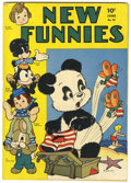 Golden Age (1938-1955):Funny Animal, New Funnies #76 (Dell, 1943) Condition: FN-....