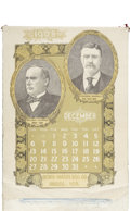 Political:Advertising, Theodore Roosevelt: 1908 Cloth Advertising Calendar....