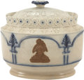 Political:3D & Other Display (pre-1896), George Washington: Circa 1800 Ceramic Sugar Bowl,...
