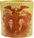 Political:3D & Other Display (pre-1896), Lafayette and Washington Transferware Cup,...