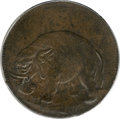 Colonials, (1694) TOKEN London Elephant Token, Thick Planchet MS63 Brown PCGS....