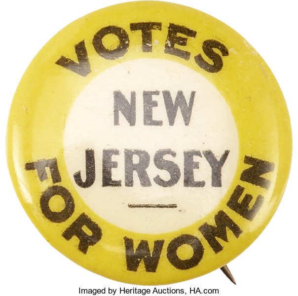 Woman S Suffrage Rare New Jersey Votes For Women Button