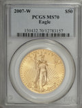 Modern Bullion Coins, 2007-W $50 One-Ounce Gold Eagle MS70 PCGS. PCGS Population (134/0).Numismedia Wsl. Price for NGC/PCGS ...