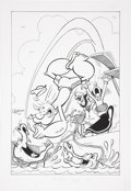Original Comic Art:Covers, George Wildman Popeye the Sailor #105 Cover Re-CreationOriginal Art (2008)....