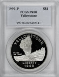 Modern Issues, 1999-P $1 Yellowstone Silver Dollar PR68 PCGS. PCGS Population (187/1051). Numismedia Wsl. Price for NG...