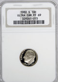 Proof Roosevelt Dimes: , 1980-S 10C PR69 Ultra Cameo NGC. NGC Census: (332/9). PCGSPopulation (4545/109). Numismedia Wsl. Price for NGC/PCGS coin ...