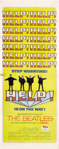 "Movie Posters:Rock and Roll, Help! (United Artists, 1965). Insert (14"" X 36""). Rock and Roll...."